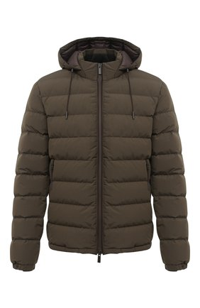 Мужская пуховая куртка ERMENEGILDO ZEGNA хаки цвета, арт. UVT35/V107B | Фото 1