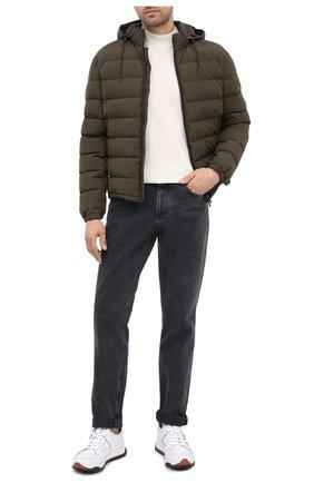 Мужская пуховая куртка ERMENEGILDO ZEGNA хаки цвета, арт. UVT35/V107B | Фото 2
