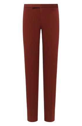 Мужские брюки ERMENEGILDO ZEGNA красного цвета, арт. UVI15/TN21   Фото 1 (Материал внешний: Хлопок, Лиоцелл; Длина (брюки, джинсы): Стандартные; Случай: Повседневный; Стили: Кэжуэл)