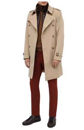 Мужские брюки ERMENEGILDO ZEGNA красного цвета, арт. UVI15/TN21   Фото 2 (Материал внешний: Хлопок, Лиоцелл; Длина (брюки, джинсы): Стандартные; Случай: Повседневный; Стили: Кэжуэл)