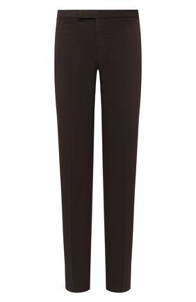 Мужские брюки ERMENEGILDO ZEGNA темно-коричневого цвета, арт. UVI15/TN21 | Фото 1