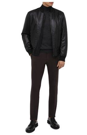 Мужские брюки ERMENEGILDO ZEGNA темно-коричневого цвета, арт. UVI15/TN21 | Фото 2