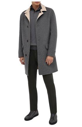 Мужские брюки ERMENEGILDO ZEGNA хаки цвета, арт. UVI15/TN21 | Фото 2