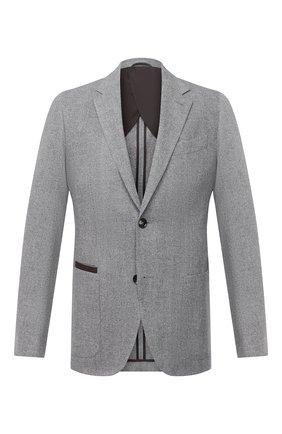 Мужской пиджак из шерсти и кашемира ERMENEGILDO ZEGNA серого цвета, арт. UVC21/TQR | Фото 1