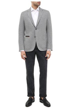 Мужской пиджак из шерсти и кашемира ERMENEGILDO ZEGNA серого цвета, арт. UVC21/TQR | Фото 2