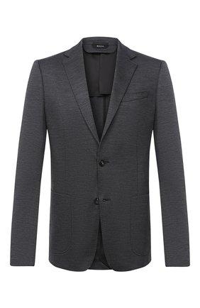 Мужской шерстяной пиджак Z ZEGNA темно-серого цвета, арт. 877749/1V9SG0 | Фото 1