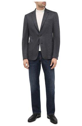 Мужской шерстяной пиджак Z ZEGNA темно-серого цвета, арт. 877749/1V9SG0 | Фото 2