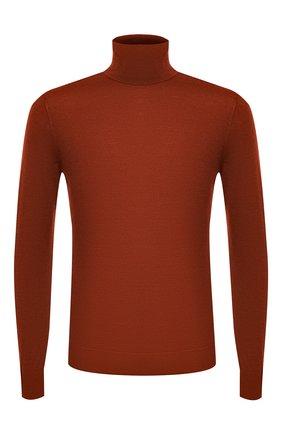 Мужской водолазка из кашемира и шелка ERMENEGILDO ZEGNA оранжевого цвета, арт. UVJ00/120 | Фото 1