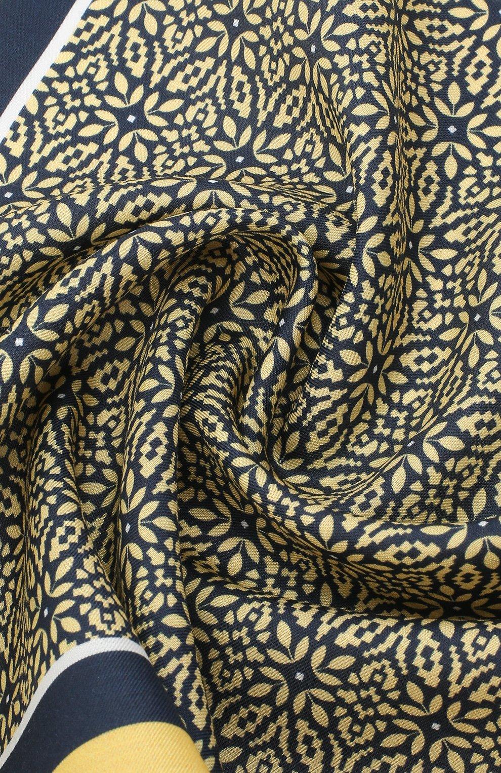 Мужской платок из хлопка и шелка ERMENEGILDO ZEGNA желтого цвета, арт. Z8J16/38B   Фото 2