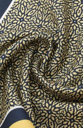 Мужской платок из хлопка и шелка ERMENEGILDO ZEGNA желтого цвета, арт. Z8J16/38B | Фото 2