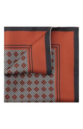 Мужской шелковый платок ERMENEGILDO ZEGNA оранжевого цвета, арт. Z8J06/39C | Фото 1