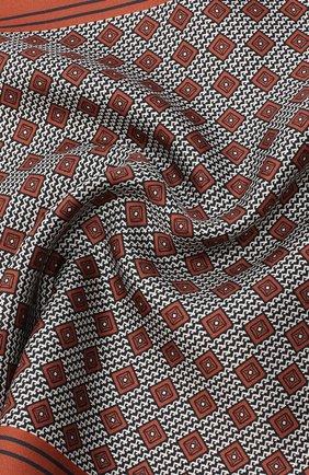 Мужской шелковый платок ERMENEGILDO ZEGNA оранжевого цвета, арт. Z8J06/39C | Фото 2