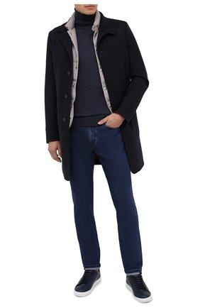 Мужские джинсы ERMENEGILDO ZEGNA темно-синего цвета, арт. UVI70/JS02   Фото 2