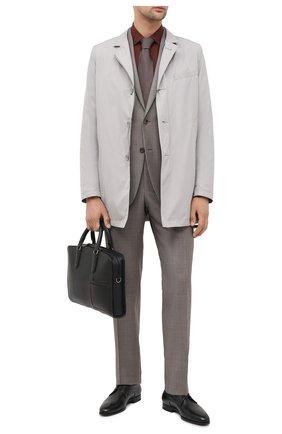 Мужская кожаная сумка для ноутбука ERMENEGILDO ZEGNA черного цвета, арт. C1576W-LHDAI | Фото 2
