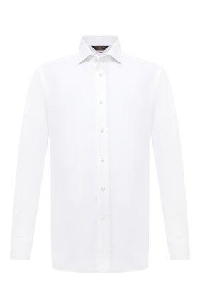 Мужская хлопковая сорочка ZEGNA COUTURE белого цвета, арт. E02300/9NS0LB | Фото 1