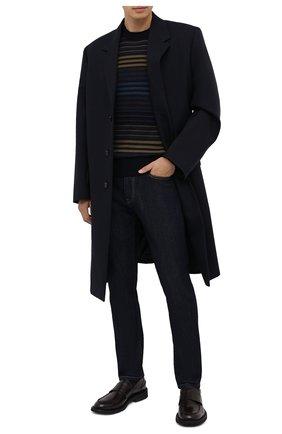 Мужской кашемировый свитер ZEGNA COUTURE разноцветного цвета, арт. CVK65/112 | Фото 2 (Материал внешний: Кашемир, Шерсть; Длина (для топов): Стандартные; Рукава: Длинные; Мужское Кросс-КТ: Свитер-одежда; Принт: С принтом; Стили: Кэжуэл)