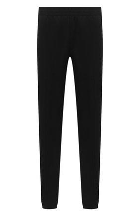 Мужские шерстяные джоггеры ZEGNA COUTURE черного цвета, арт. CVCP21/8VPJ1 | Фото 1 (Материал внешний: Шерсть; Длина (брюки, джинсы): Стандартные; Силуэт М (брюки): Джоггеры; Стили: Спорт-шик)