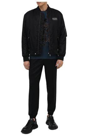 Мужские шерстяные джоггеры ZEGNA COUTURE черного цвета, арт. CVCP21/8VPJ1 | Фото 2 (Материал внешний: Шерсть; Длина (брюки, джинсы): Стандартные; Силуэт М (брюки): Джоггеры; Стили: Спорт-шик)