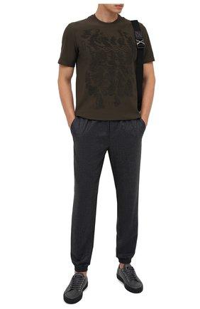 Мужские шерстяные джоггеры ZEGNA COUTURE серого цвета, арт. CVCP20/8VPJ1 | Фото 2