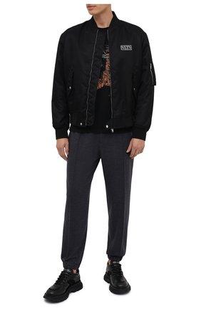Мужская хлопковая футболка ZEGNA COUTURE черного цвета, арт. CVCJ11/8VJ09 | Фото 2