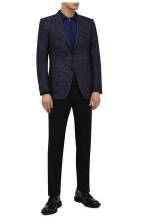 Мужской пиджак из шерсти и шелка ERMENEGILDO ZEGNA синего цвета, арт. 859525/122520   Фото 2