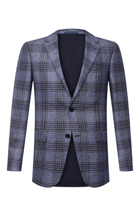 Мужской пиджак из шелка и кашемира ERMENEGILDO ZEGNA синего цвета, арт. 859141/121220 | Фото 1