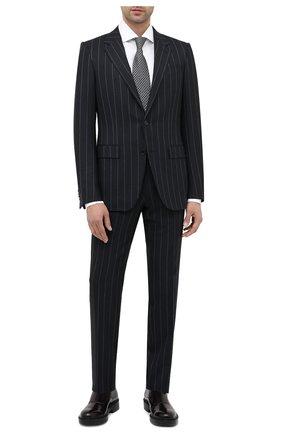 Мужской шерстяной костюм ERMENEGILDO ZEGNA темно-синего цвета, арт. 822581/221225 | Фото 1