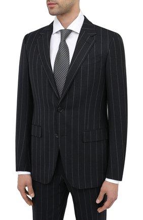 Мужской шерстяной костюм ERMENEGILDO ZEGNA темно-синего цвета, арт. 822581/221225 | Фото 2