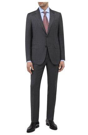 Мужской костюм из шерсти и шелка ERMENEGILDO ZEGNA темно-серого цвета, арт. 816598/221225 | Фото 1