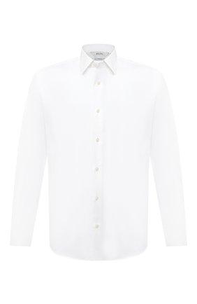 Мужская хлопковая сорочка Z ZEGNA белого цвета, арт. 805100/ZCRC1 | Фото 1