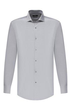 Мужская хлопковая сорочка BOSS темно-серого цвета, арт. 50439515 | Фото 1