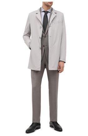 Мужская хлопковая сорочка BOSS темно-серого цвета, арт. 50439515 | Фото 2