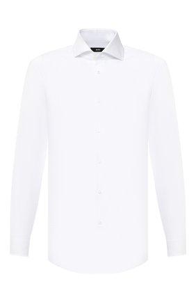 Мужская хлопковая сорочка BOSS белого цвета, арт. 50439515 | Фото 1