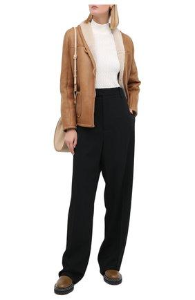 Женская дубленка MASLOV светло-коричневого цвета, арт. SMW070 | Фото 2