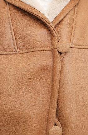 Женская дубленка MASLOV светло-коричневого цвета, арт. SMW070 | Фото 6