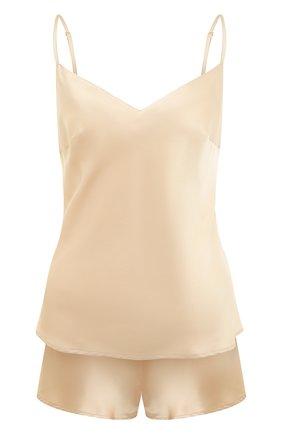Женская шелковая пижама MARJOLAINE светло-бежевого цвета, арт. ODON-3SOI5003 | Фото 1