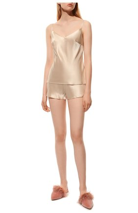 Женская шелковая пижама MARJOLAINE светло-бежевого цвета, арт. ODON-3SOI5003 | Фото 2
