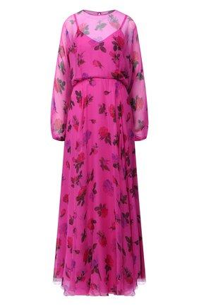 Женское шелковое платье VALENTINO розового цвета, арт. UB3VDAW15TE | Фото 1