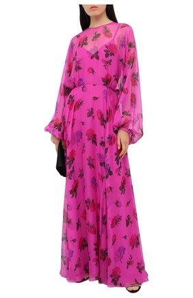 Женское шелковое платье VALENTINO розового цвета, арт. UB3VDAW15TE | Фото 2