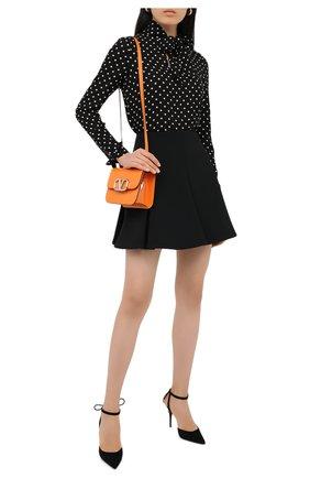 Женская юбка VALENTINO черного цвета, арт. UB3RA6A25JN   Фото 2