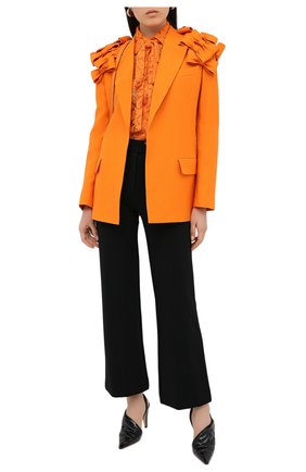 Женский жакет из шерсти и шелка VALENTINO оранжевого цвета, арт. UB3CE1X01CF   Фото 2