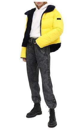 Женский двусторонний пуховик YS ARMY PARIS желтого цвета, арт. 21WFV07467A26W | Фото 2
