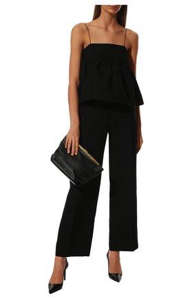 Женские кожаные туфли t-screw TOM FORD черного цвета, арт. W2326T-LCL002 | Фото 2