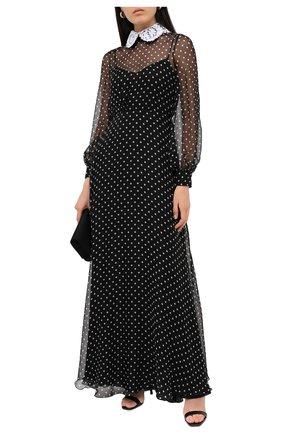 Женское шелковое платье VALENTINO черно-белого цвета, арт. UB3VDB105KN | Фото 2