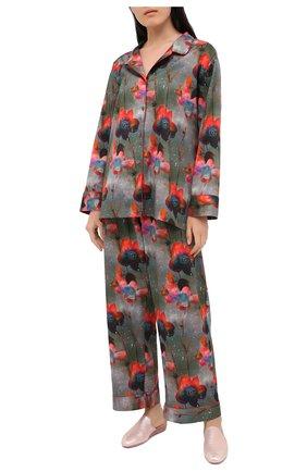 Женская хлопковая пижама ZIMMERLI разноцветного цвета, арт. 5143-36800 | Фото 1