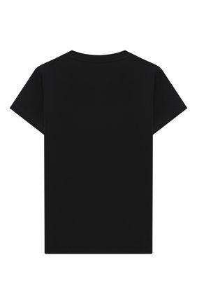 Детская хлопковая футболка VERSACE черного цвета, арт. YC000438/YA00019/8A-14A | Фото 2