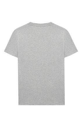 Детская хлопковая футболка VERSACE серого цвета, арт. YD000265/YA00079/8A-14A | Фото 2