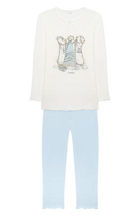 Детская пижама LA PERLA бежевого цвета, арт. 55161/8A-14A | Фото 1