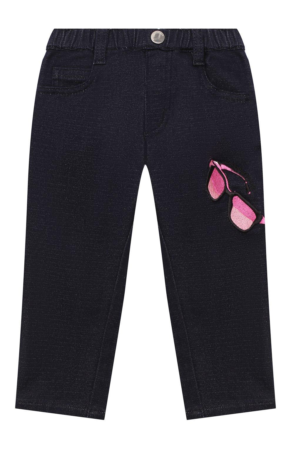 Детские джинсы EMPORIO ARMANI синего цвета, арт. 6HEJ23/4D2AZ   Фото 1