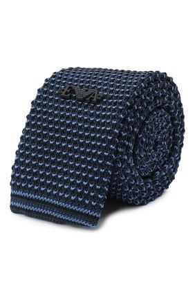 Детский шелковый галстук EMPORIO ARMANI синего цвета, арт. 409526/0A957 | Фото 1